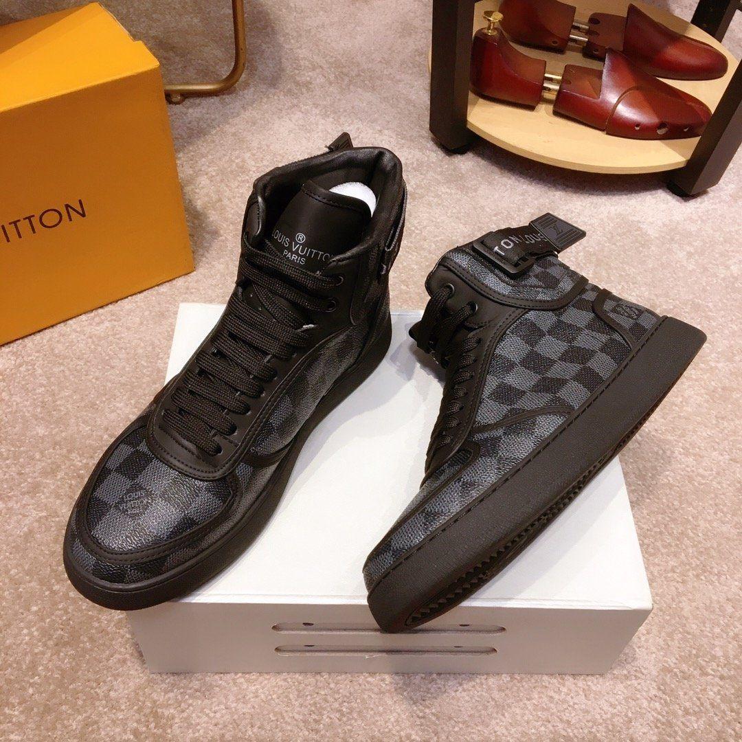 2019 B9 plana de moda de alta calidad de los zapatos casuales zapatos de los hombres, zapatillas de deporte de lujo con cordones caja original de altura superior Empaquetado Zapatos Hombre