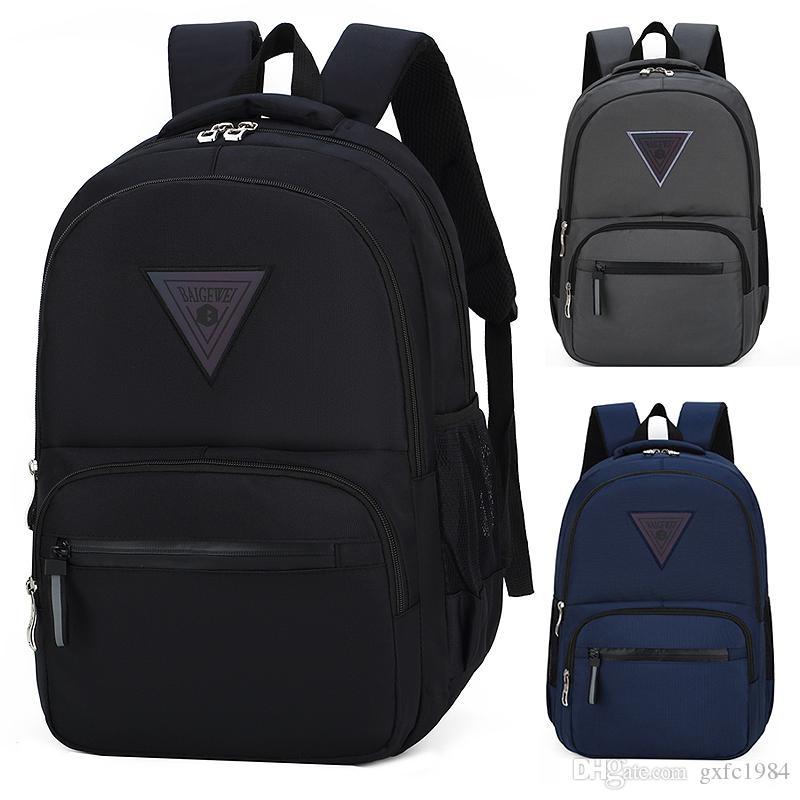 Студент мода мужская повседневная рюкзак новый водонепроницаемый бизнес наружный большой емкость дышащая сумка рюкзак спортивная сумка gxmue