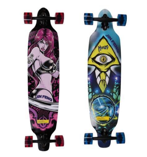 """36"""" x 9"""" Skateboard Cruiser ABEC-7 Bearing Four-wheel Long Skateboard Cruiser 7-layers Maple Longboard Skates Board Free shippin"""