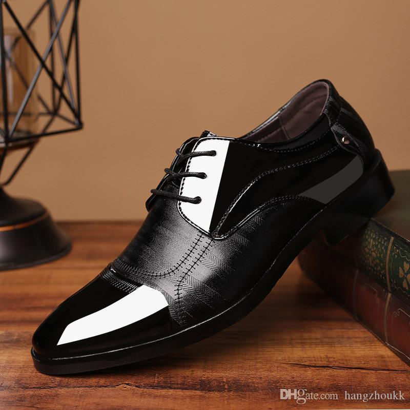 Scarpe formali da uomo Oxford per uomo Moda Abito Calzature 2019 Scarpe formali Scarpe eleganti da uomo a punta in pelle
