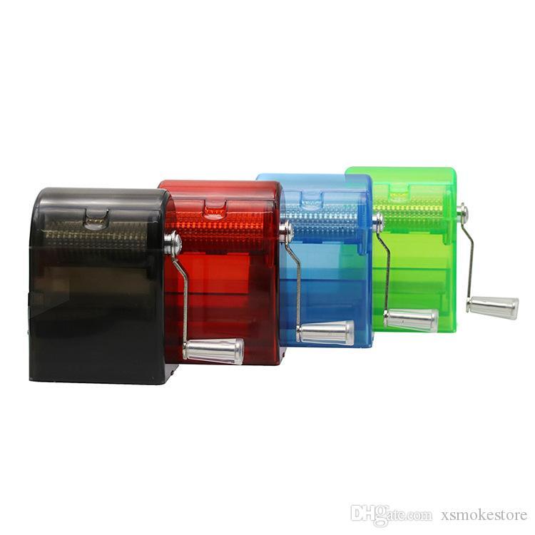 Klasik Ücretsiz Kargo Dört Renk Plastik El Değirmenleri Duman Aletleri Sigara Aksesuarları arylic Manuel Bitkisel Öğütücü