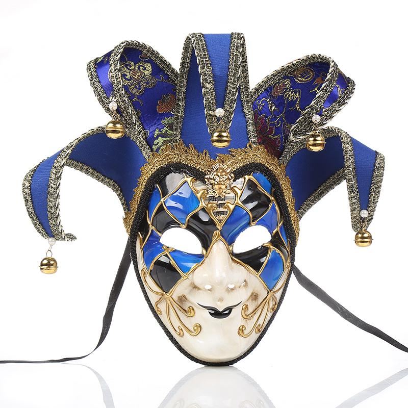 Mens Retro Venetian Jester Mask Masquerade dipinto a mano Joker Wall Decorative Art Collection Pasqua Decorazione regalo 3 colori Selezionare N-63