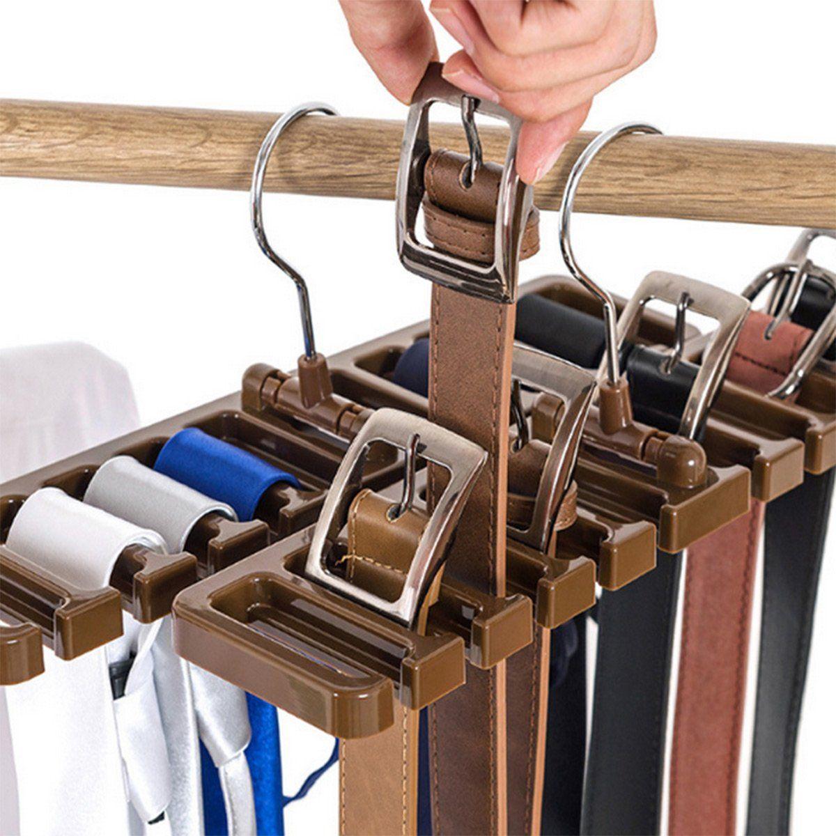 2020 Pack Of 2 Tie Belt Organizer Storage Rack Multifuction