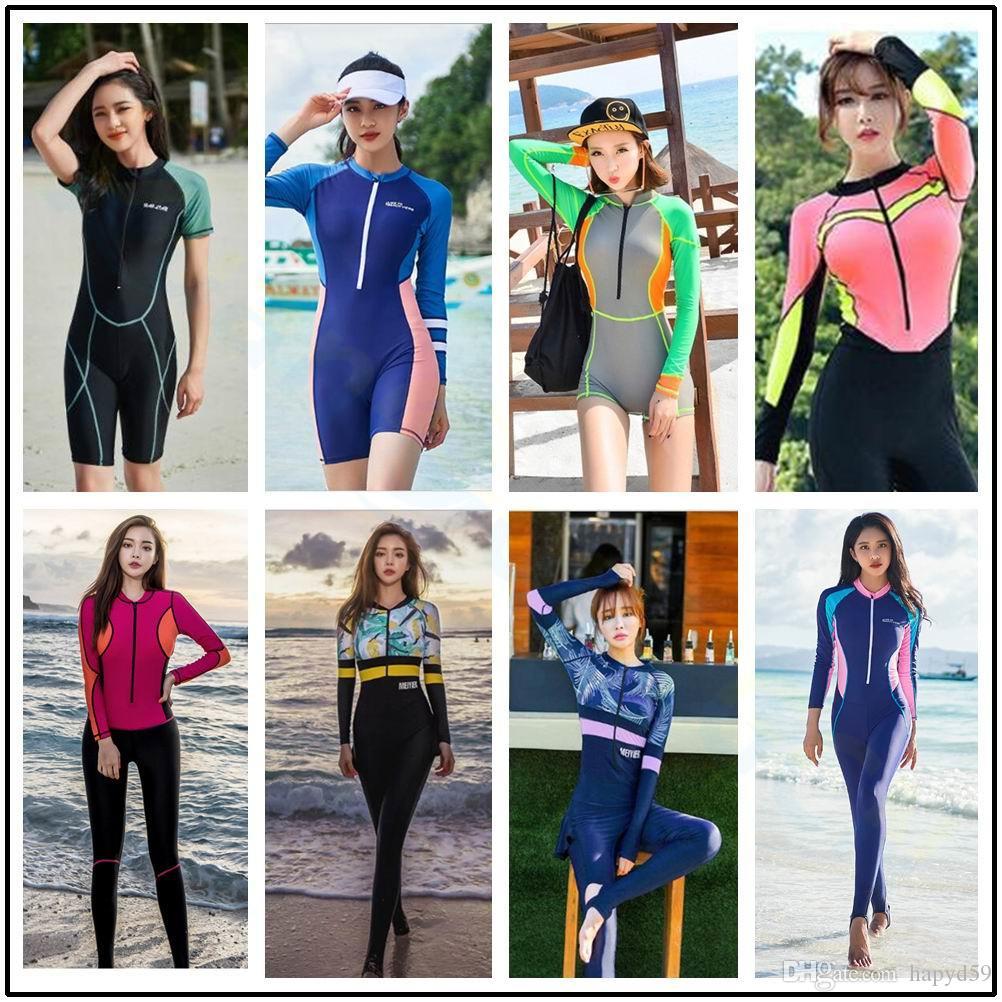 Полный охват тела купальник пэчворк корейский стиль серфинг купальники пляжная одежда цельный костюм гидрокостюм серфинг плавание дайвинг одежда