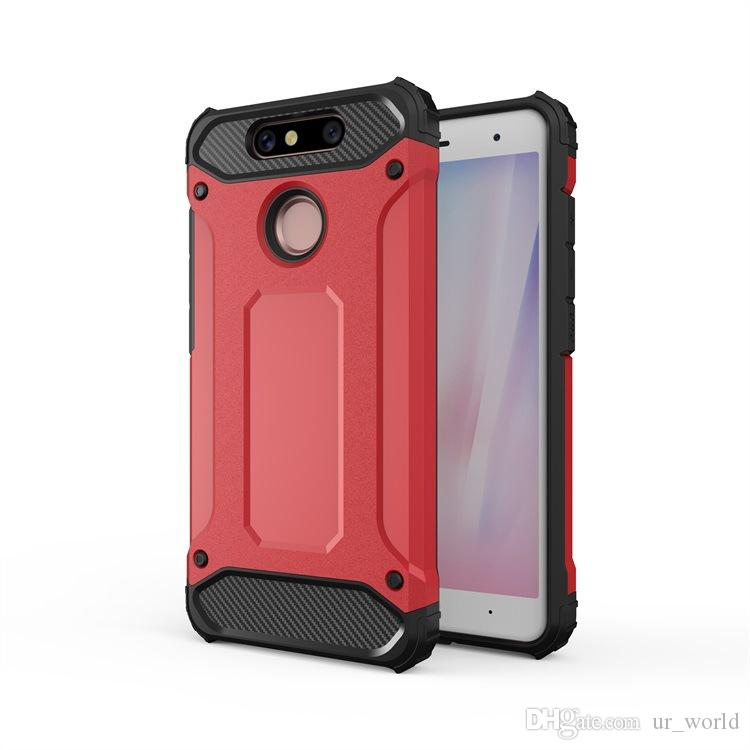 For ZTE V8Q Zmax Pro Shockproof Matte Hard PC TPU 2 in 1 Armor Phone Case For ZenFone 4 4Pro
