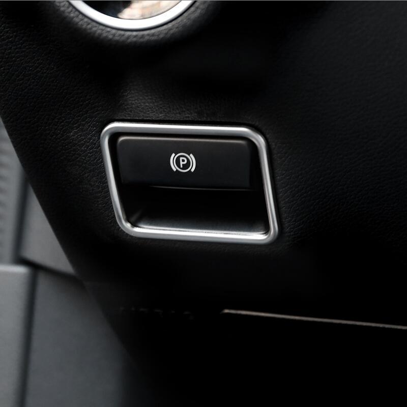 자동차 스타일링 메르세데스 벤츠 A B 클래스 GLE W166 GLS X166 CLA GLA W176 액세서리에 대한 내부 전자 수동 브레이크 프레임 커버 트림 스티커
