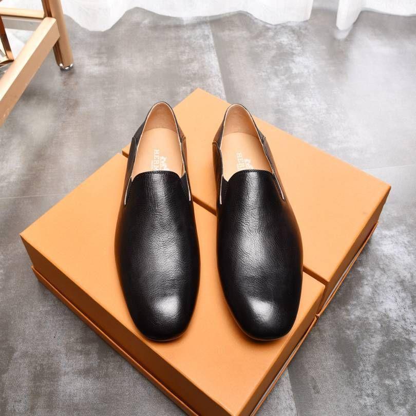 casual men's color Korean fashion pure Lazy single leather shoes