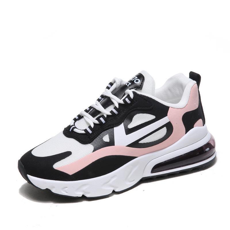 2020 nouvelle version coréenne de la dentelle de couleur de bonbons à la mode sport a augmenté coussin d'air chaussures de sport