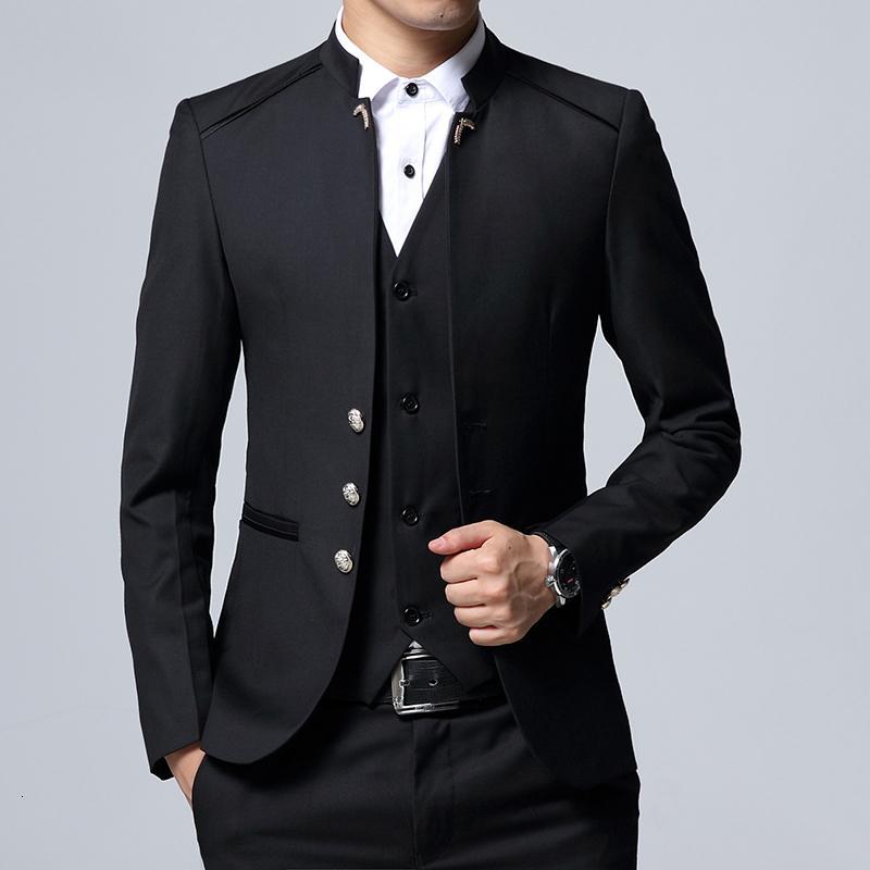 2019 мужской костюм 3 шт. Набор Szie S-4XL свадебный банкет Slim fit мужчины костюм куртка брюки + жилет может быть продан отдельно Y191115