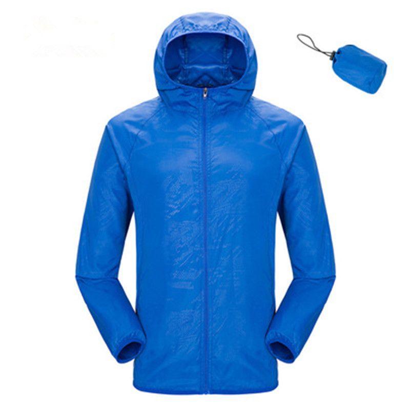 Homens Mulheres Unisex pele protecção roupas de proteção solar camping praia revestimento do verão modelos azul laranja quick-secam jaquetas finas