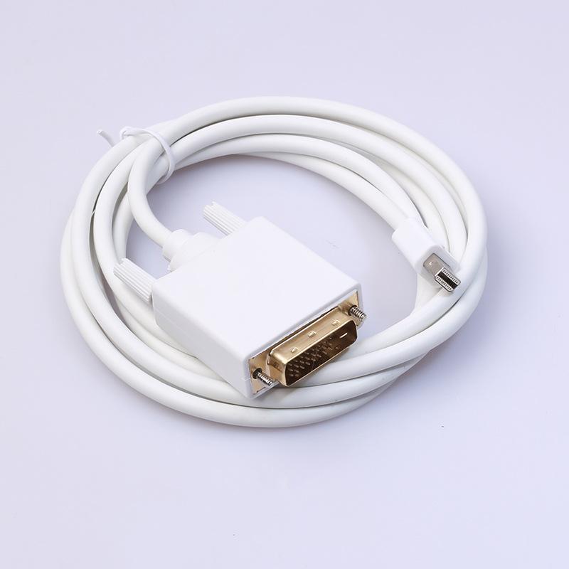 250 шт. / лот * mini dp to dvi кабель Thunderbolt Mini Display Port to DVI мужской конвертер кабель 6ft / 1.8 м для apple Macbook Pro Air