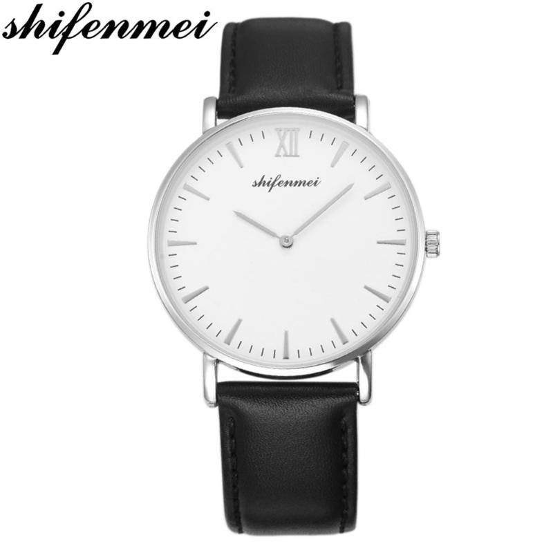 Shifenmei Top Mulheres Relógios Waterproof Moda Ladies Watch Mulher Quartz relógio de pulso fino pulso Zegarek Damski 1075J