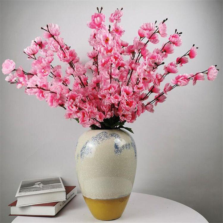 """가짜 복숭아 꽃 (7 줄기 / 무리) 22.83 """"시뮬레이션 매화 꽃 웨딩 홈 쇼케이스 장식 인공 꽃"""