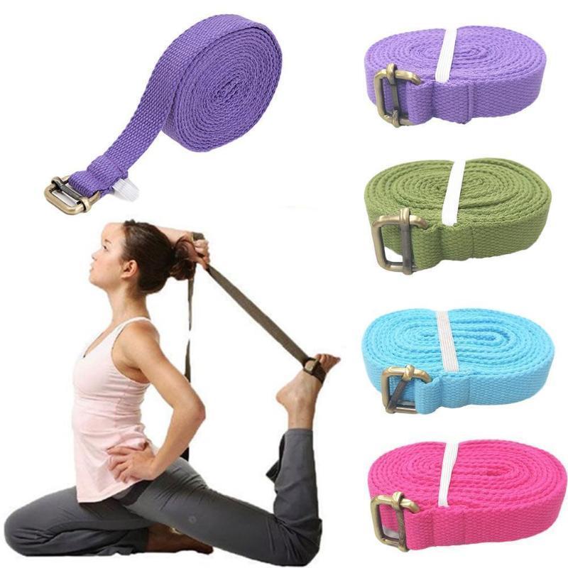3 Mètres simple couche de yoga en coton stretch Pull bande hommes auxiliaire danse stretching fitness et femmes Pilates Fournitures de yoga B4K5