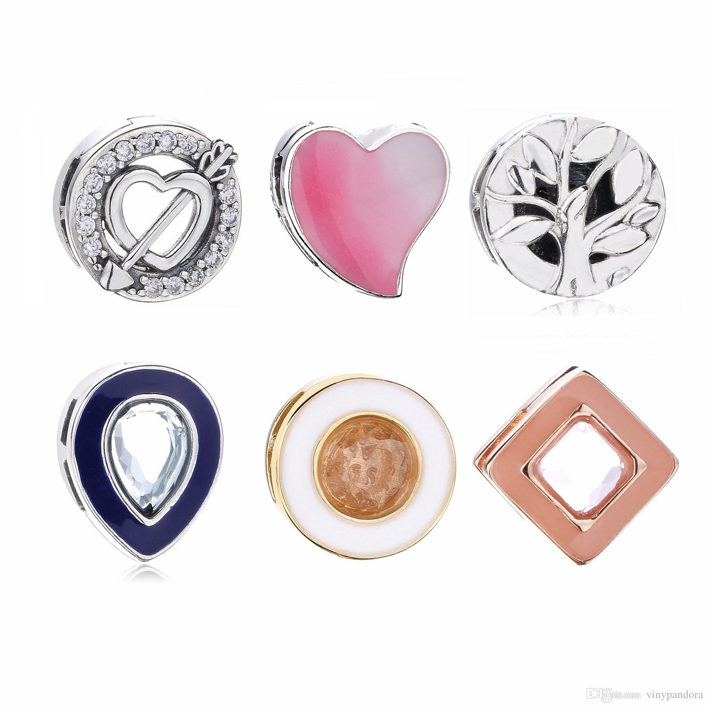 100% Argent 925 Reflexions Charm minuscule pour les bijoux Pandora Europe Reflexions Bracelets Mesh