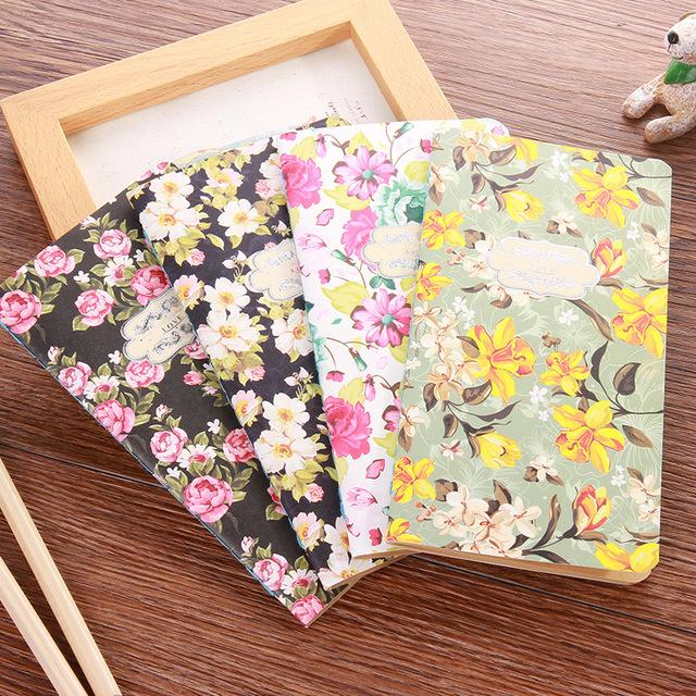 New Arrival Cute Floral Flower Schedule Book Diary Weekly Planner Blank Notebook Notepads School Office Supply Kawaii Stationery
