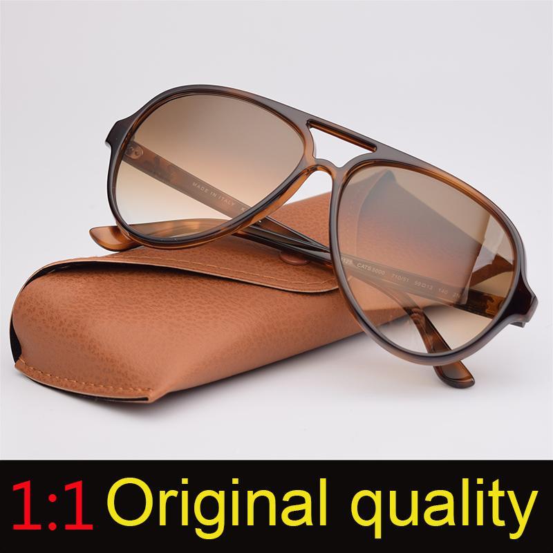Top Quality 4125 Ray Brand Sunglasses Men Women Retro Design Brand Sun Glasses Cats 5000 Model Nylon Frame G15 Lenses Original Packages