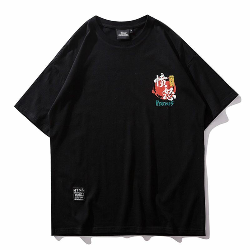 MarchWind Erkekler Hip Hop Tişörtlü Streetwear Komik Samurai Köpek Tişört Japon Harajuku Tişörtü 2019 Yaz Pamuk Tees Kısa Kollu Tops