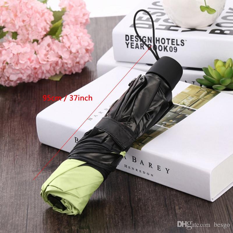 매직 워터 부담 꽃 우산 블랙 코팅 UV 보호 우산 써니 비오는 우산 방풍 세 접는 우산 DBC VF1570