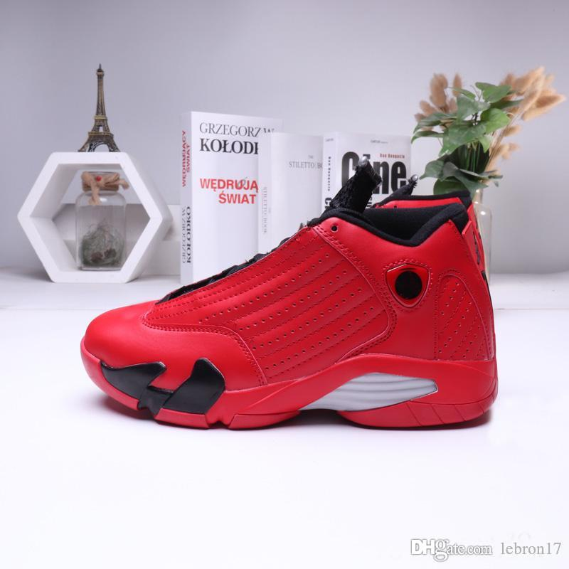 mens pas cher chaussures de basket-ball Jumpman 14s rétro AJ14 Argent Bleu Argent Rouge Noël Noir DB Doernbecher Pâques CNY baskets tennis avec boîte