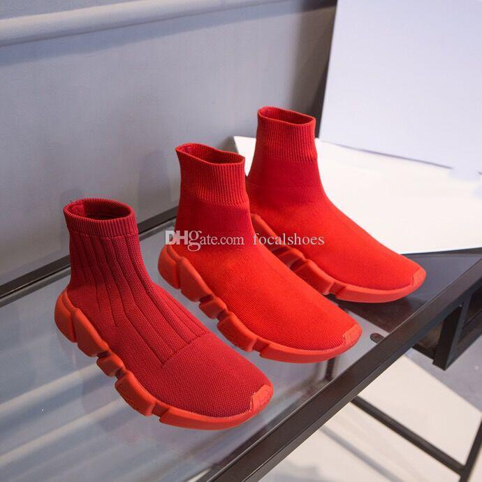 Knit Sock Chaussures de sport Speed Triple S Hommes Entraîneur Chaussures Mode Luxe Femmes Chaussures Designer Sock Chaussures Mules Rouge Chaussures Casual Chaussures étoile