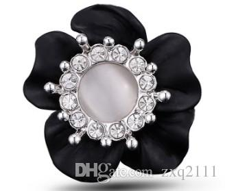 Новейший праздник день рождения прибытия женщины дамы ювелирные изделия жемчужный цветок кольцо новый год подарок