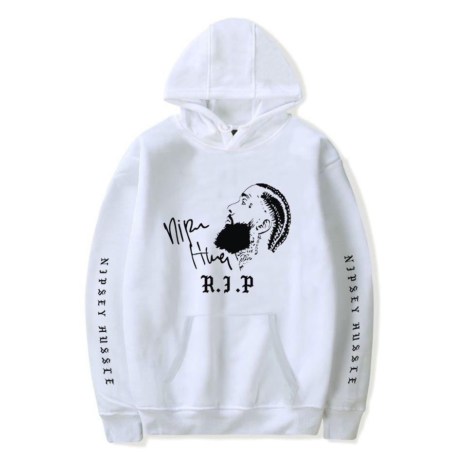 Neue Mode Nipsey Hussle Hoodie Mode Rapper Print Mit Kapuze Junge / Mädchen Beliebte Kleidung Lässige Nipsey Hussle Hoodies Sweatshirt