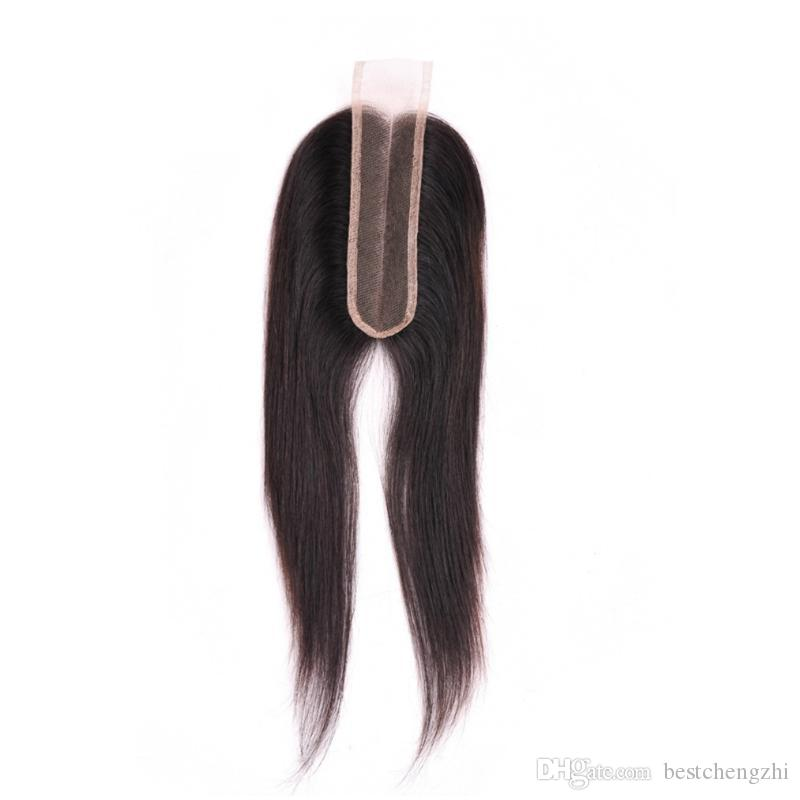 2x6 Lace Closure 100% Unprocessed Brazilian Body Wave Human Hair Straight Lace Closure Free Part Middle Part 9A Top Quality