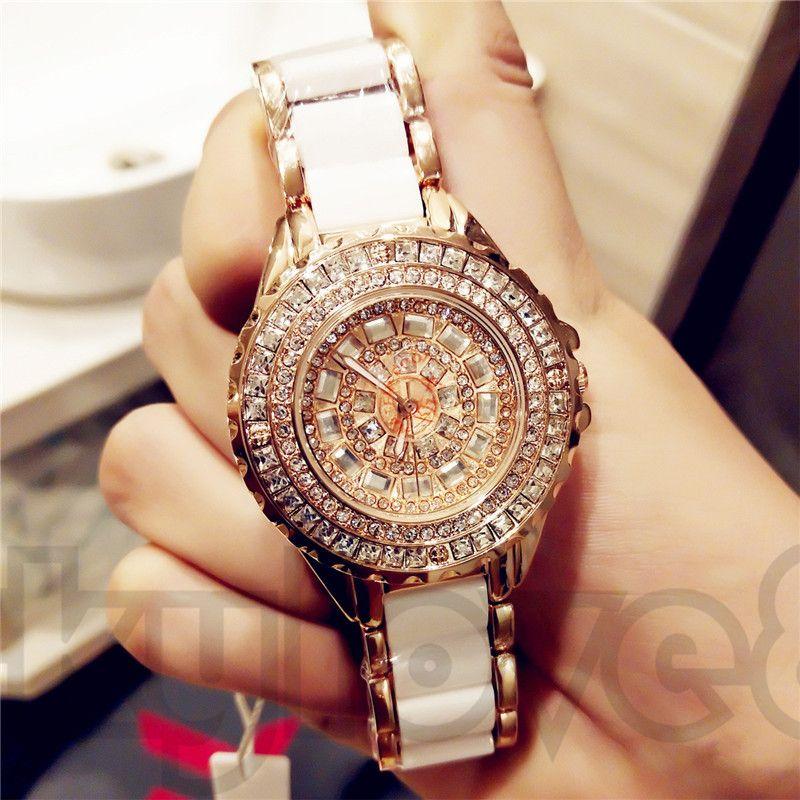 Bracelet gratuit vente chaude dames de mode regarder de haute qualité en céramique diamant tchèque mouvement à quartz japonais montre de mode étanche