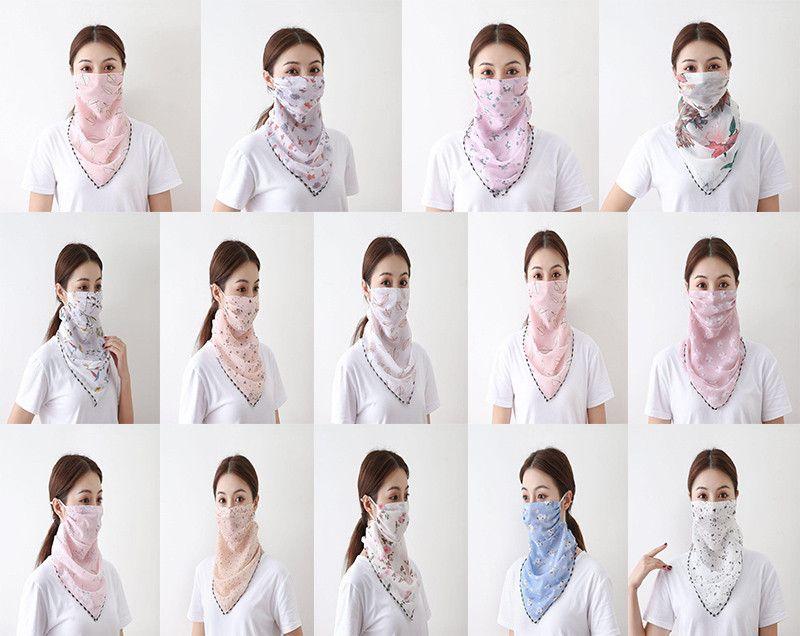 Summer outdoor riding mask wholesale fashion printing female big neck protector sunscreen scarf mask driving shading bib DA447