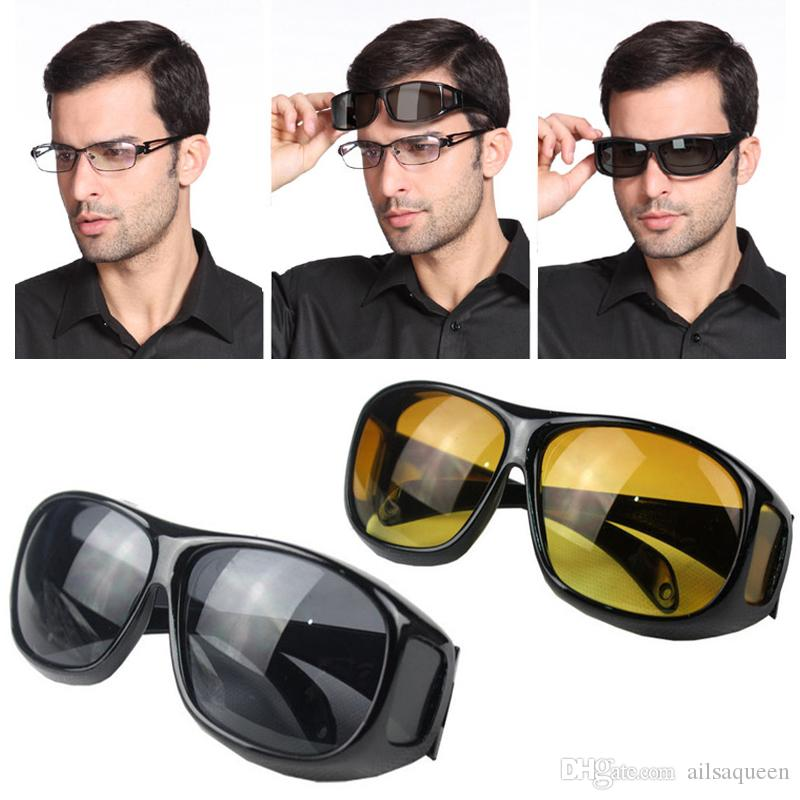 Durable HD Night Driving Vision Care Eyes Protective Eyewear Glasses Sunglasses