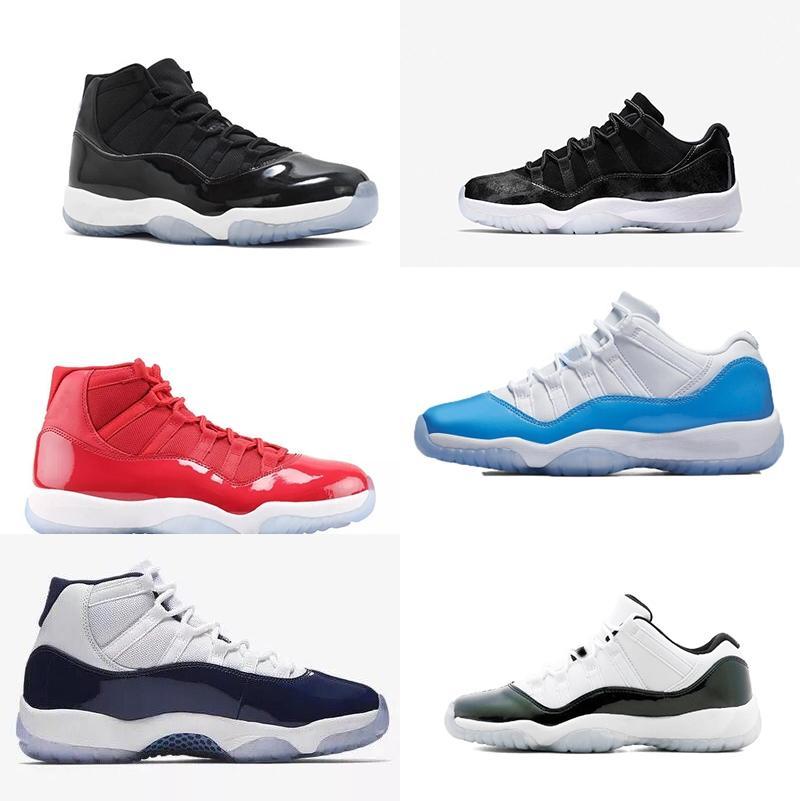 01 avec la boîte 2019 pour hommes et femmes 11S Low Barons Win Comme 96 82 Chaussures de basket-Sneakers Marque Designer pour hommes Chaussures de sport Concord