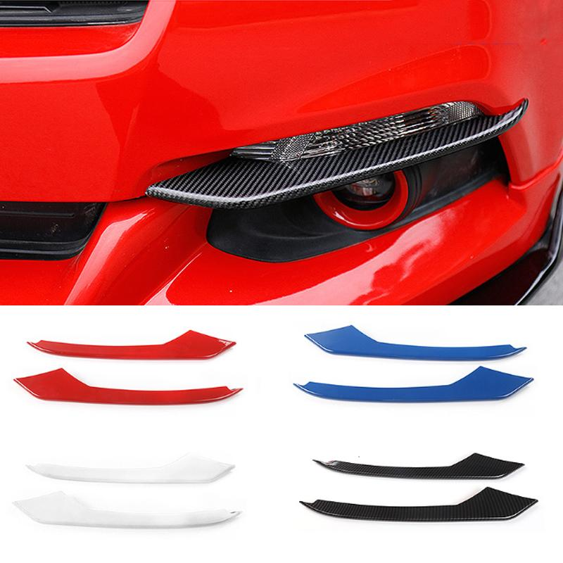 Araç Sis Işık Kaş ABS lambası Kaş ABS Dekorasyon Kapak For Ford Mustang 2015-2018 Otomobil Dış Aksesuar