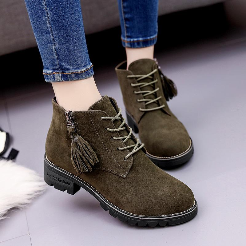 Hot Sale-British wind restoring ancient ways of new fund of 2018 autumn small short boots Martin boots students joker thick with female b