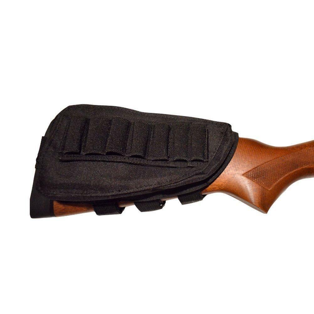 Rifle de Caça Tático Shotgun Buttstock Cheek Resto Munição Shell Mag Bolsa Titular