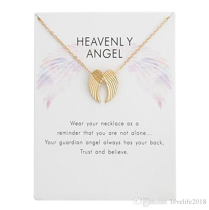 Slide Through Angel Wing Necklace Dogeared Womens Heavenly Angel