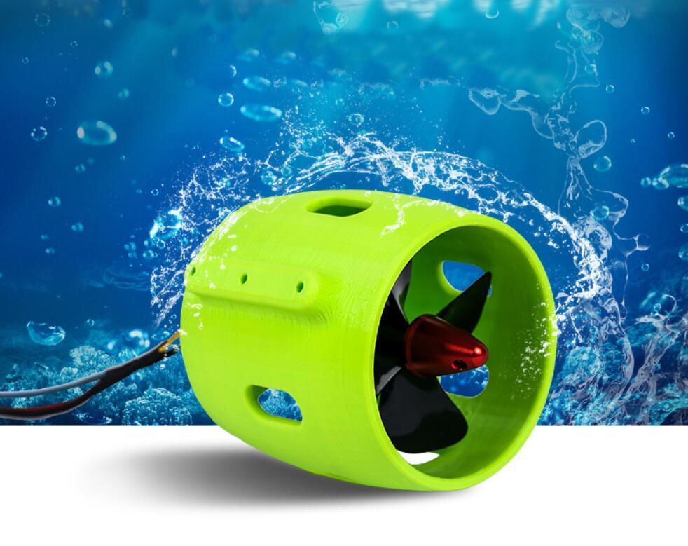 RC التعشيش القوارب والمعدات الكهربائية 12V-24V 30-200W فرش السيارات تحت الماء الصاروخ لسحب صافي القوارب DIY روبوت المروحة