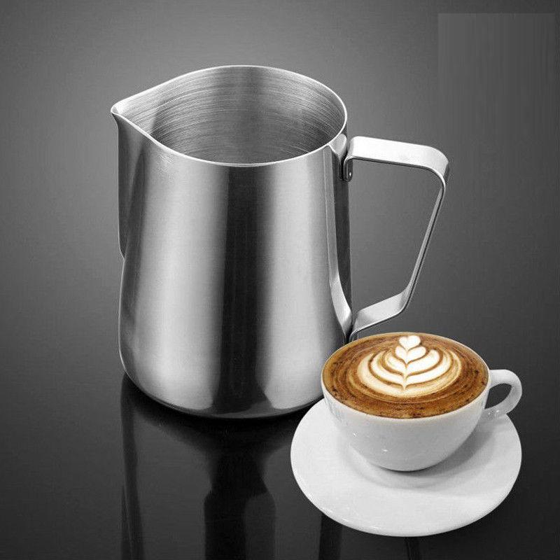 400ml Stainless Steel Milk Frothing Pitcher Coffee Cup Frother Jug for Latte Art