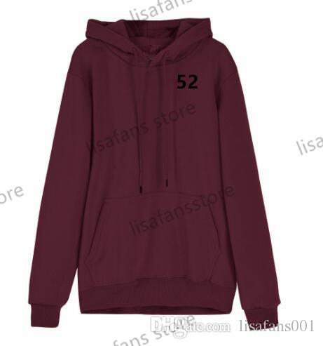 2019 personalizado nuevo suéter sudaderas con capucha para hombre de alta calidad al por mayor de Impreso Cualquier nombre de cualquier número con capucha púrpura 52