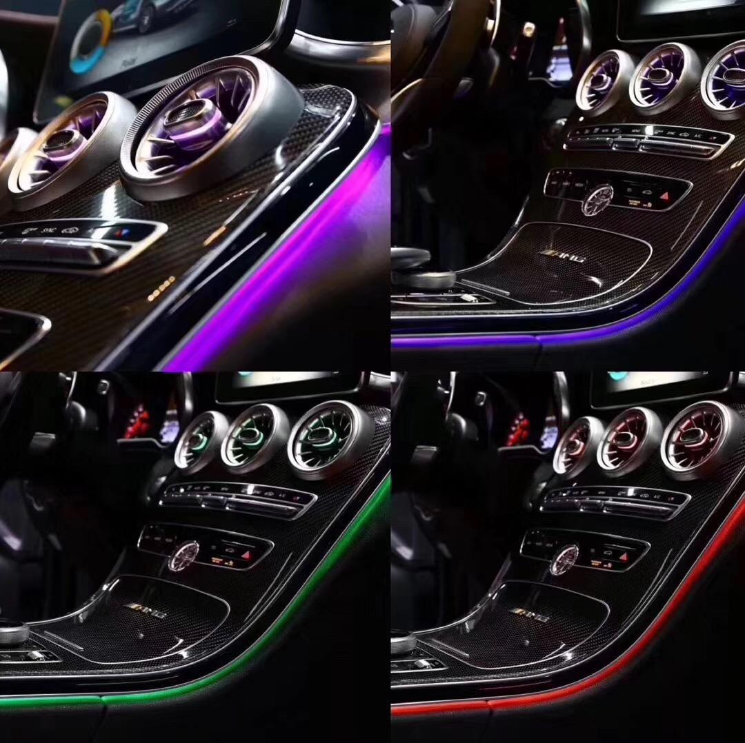 Car interior 3/12/64 colors LED ambient light door panel central control console light for Mercedes-Benz C Class W205 GLC(W253) C180 C200