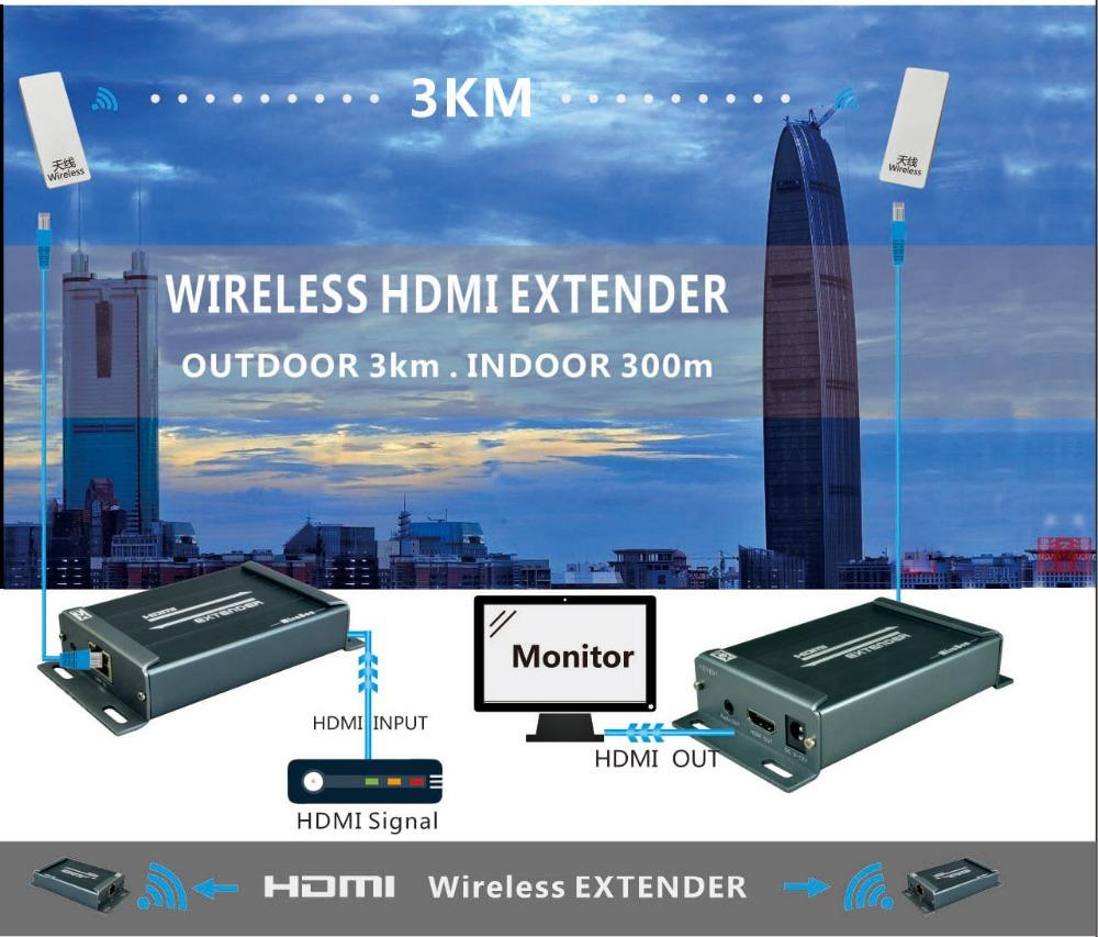 HSV891W 1080P 5.8GHZ wireless hdmi extender with audio extractor compatible with HDCP can extender 150~300m indoor (9)