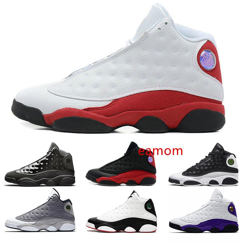 Discount 13 Cap And Gown 13s Rivals Men Basketball Shoes Atmosphere Grey He Got Game Black Cat Mens Trainer Sport Sneakers Drop Shipping