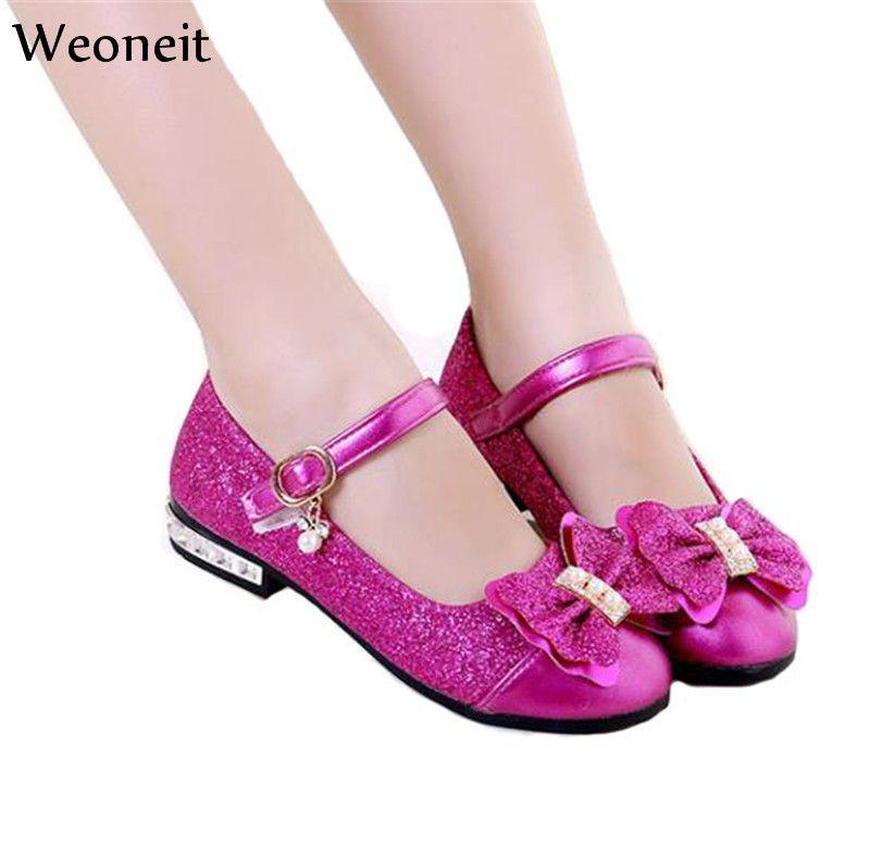 New 2019 Children Princess Shoes Girls