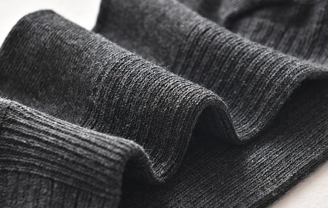 de los hombres de calidad alemana algodón color sólido resistente al desgaste transpirable anti-fricción y los calcetines y la absorción de sudor calcetines de los hombres de negocios