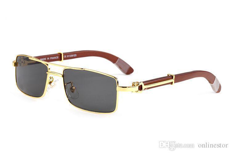 2019 yeni varış manda boynuzu gözlük erkekler Altın orijinal ahşap güneş gözlüğü kadın Ayna spor gözlük Vintage Retro güneş gözlüğü el yapımı óculos