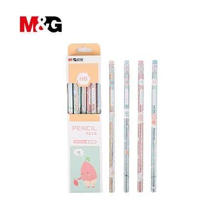 MG Nette Kawaii Holz Bleistift HB Standard Bleistifte Für Zeichnung Malerei Lieferungen 12 Teile / los künstler zubehör bleistift für kleidung