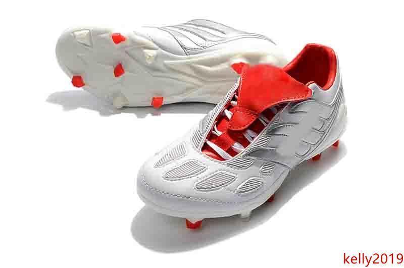 Predator précision accélérateur D'électricité FG 25th Beckham devient 19 Hommes Chaussures de Football Crampons Football Bottes Taille 39-45