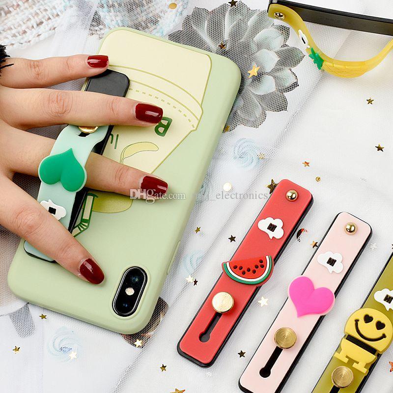 diseñador pie kickstand creativo dedo anillo oculto 3M adhesivo reutilizable varios patrones de soporte para teléfono