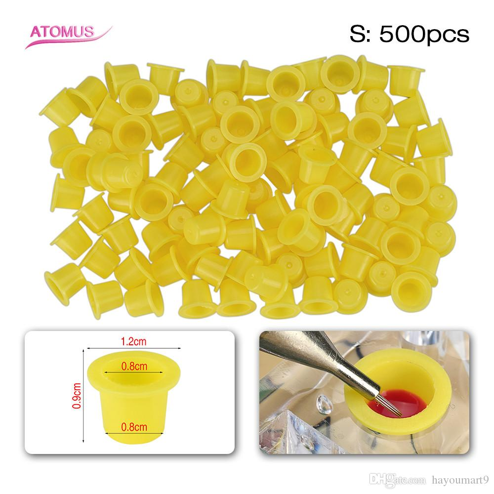 500pcs S Size Ink Cups Tattoo Pigment Caps Holder Plastic Tattoo Accessories Tattoo Pigment Caps Holder Plastic Accessories