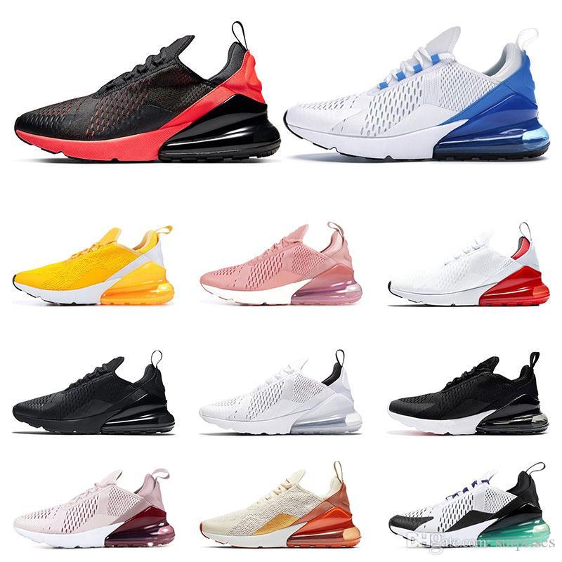 Nike air max 270 Tênis de corrida para homens Triplo Preto branco mal levantou Universidade Red Mint Verde Uva Tigre mulheres sports sneaker formadores sapatos tamanho 36-45